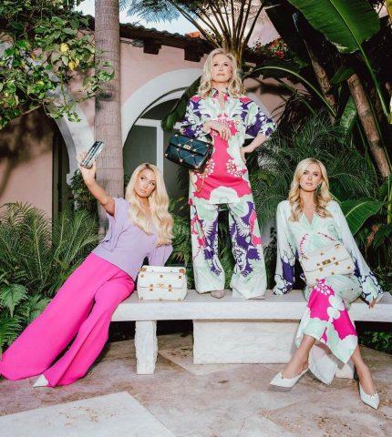 Девушки семейства Хилтон позируют в рекламной кампании Valentino-430x480