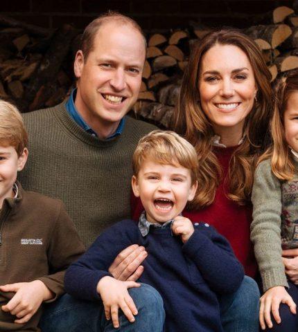 Принц Уильям и Кейт Миддлтон презентовали рождественскую открытку-430x480