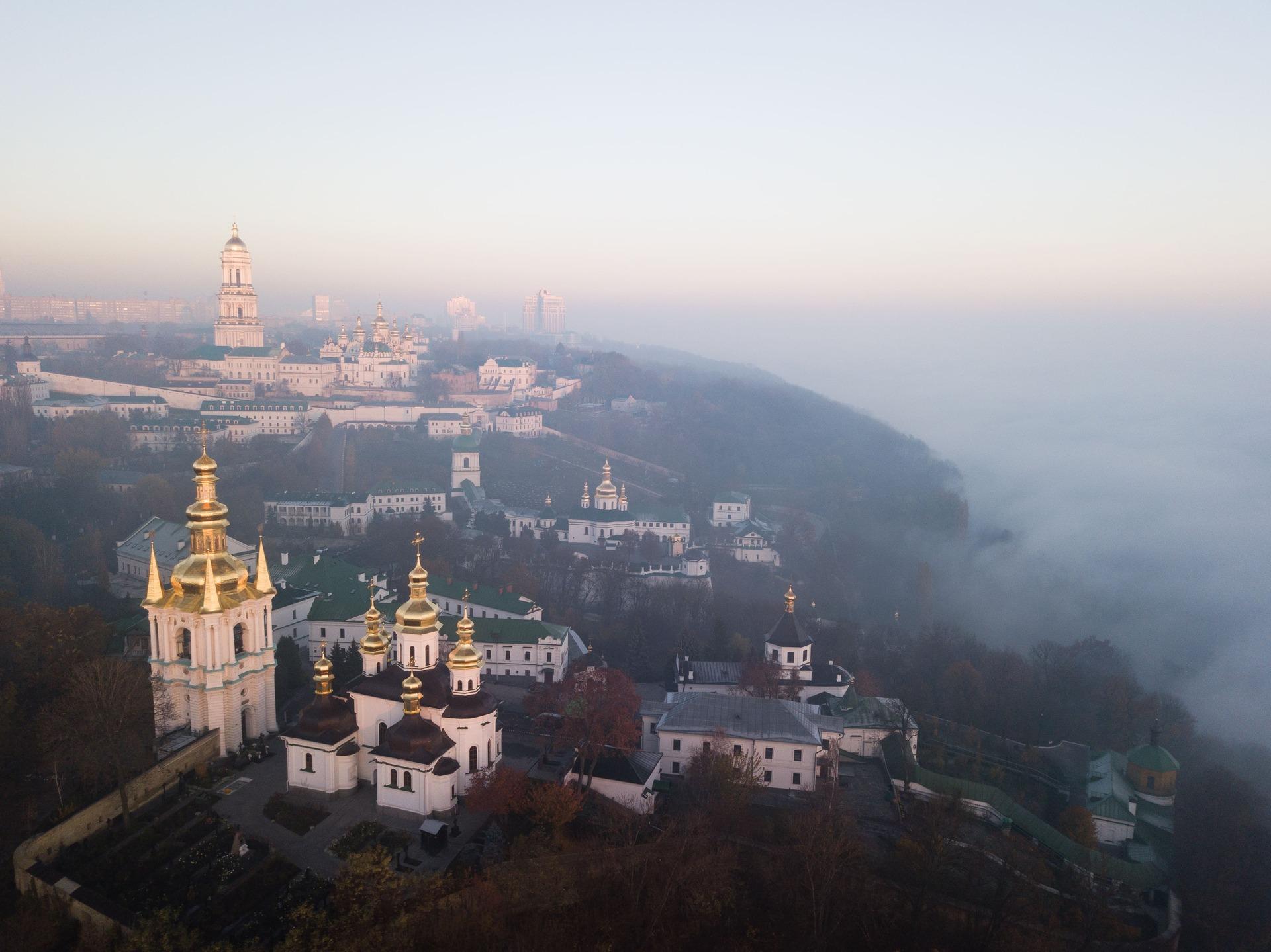 Києво-Печерська Лавра — монастирський комплекс, заснований 1051 року. Належить до культурної спадщини ЮНЕСКО. 3 листопада 2020 року. Фото: Дмитро Бартош.