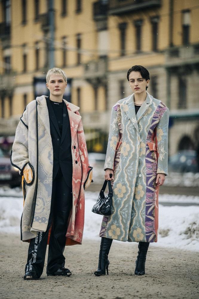 Главные трендыstreetstyleна Неделе Моды в Стокгольме зима 2021-Фото 9