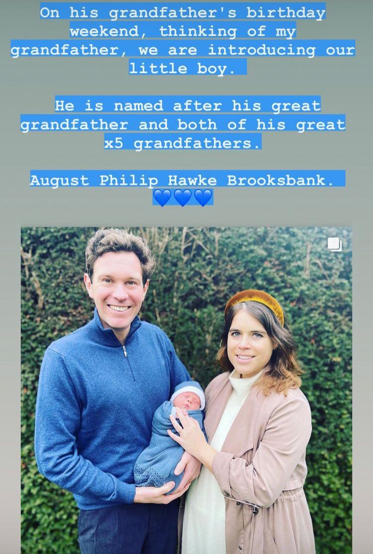 Примерная внучка: Принцесса Евгения показала новорожденного сына, и назвала его имя-Фото 2