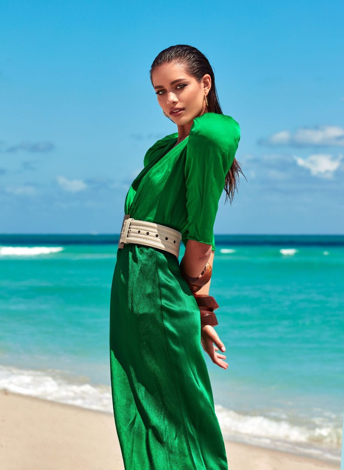На берегу моря: История весенней digital-обложки Marie Claire-Фото 5