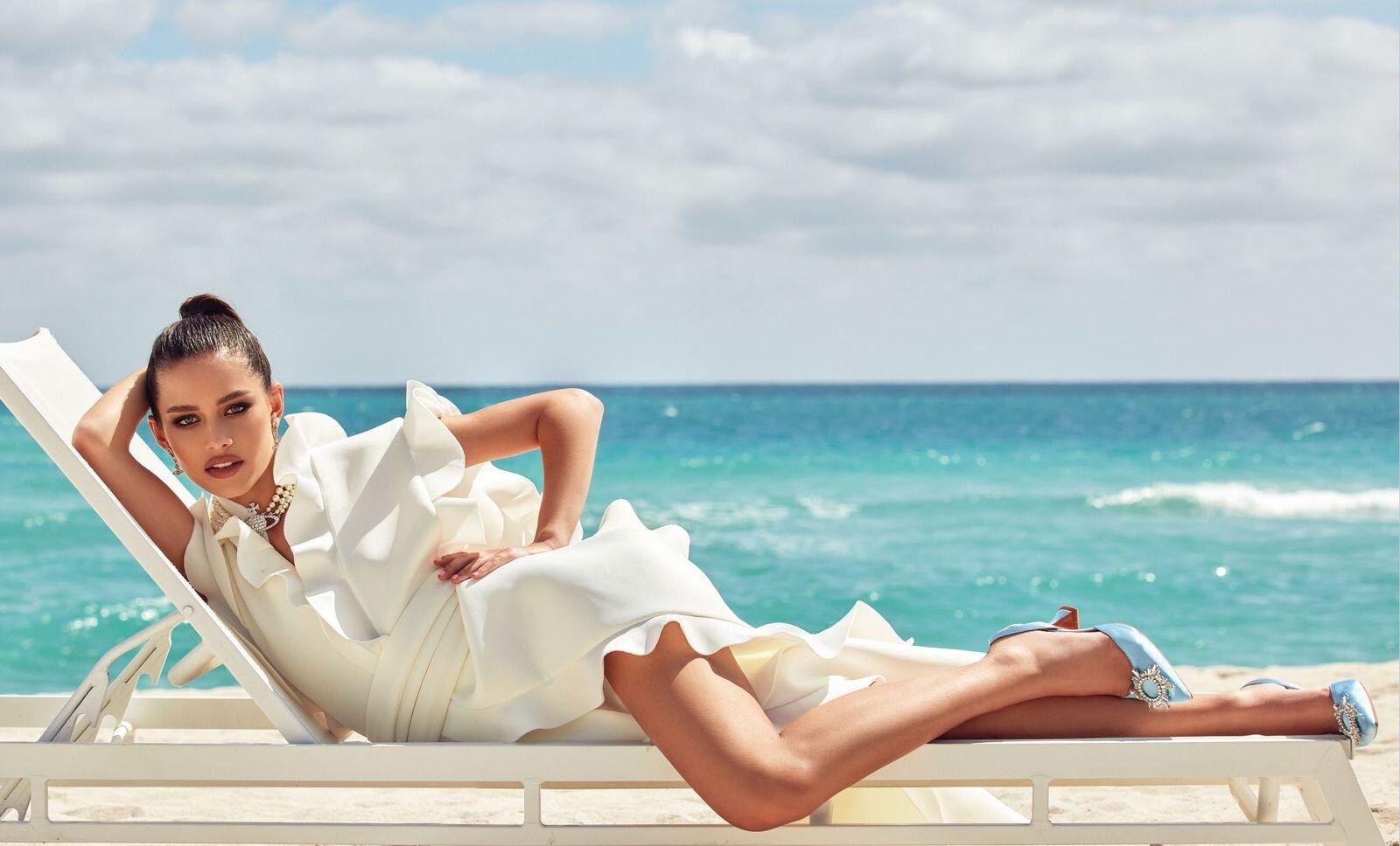 На берегу моря: История весенней digital-обложки Marie Claire-Фото 6