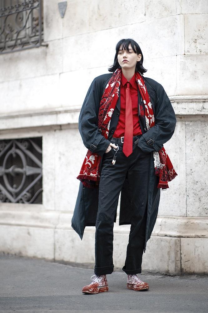 """Текущие планы: 17 актуальныхstreetstyle-образов Недель моды """"осень-зима"""" 2021-Фото 10"""