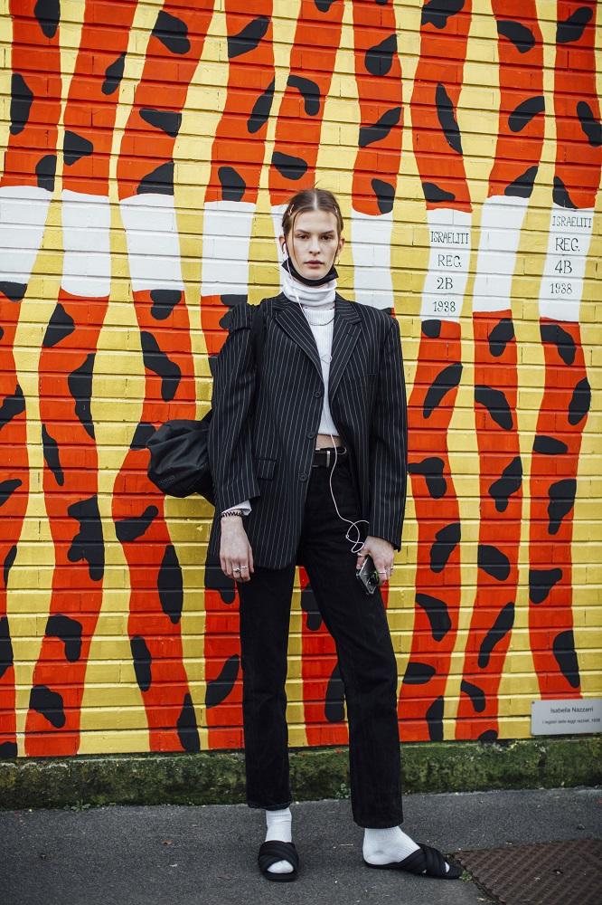 """Текущие планы: 17 актуальныхstreetstyle-образов Недель моды """"осень-зима"""" 2021-Фото 6"""