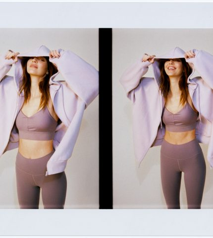 КендаллДженнер в новой рекламной кампанииAloYoga, образы для которойстилизировалалично-430x480