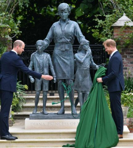 Открытие памятника принцессе Диане — воссоединение братьев-430x480