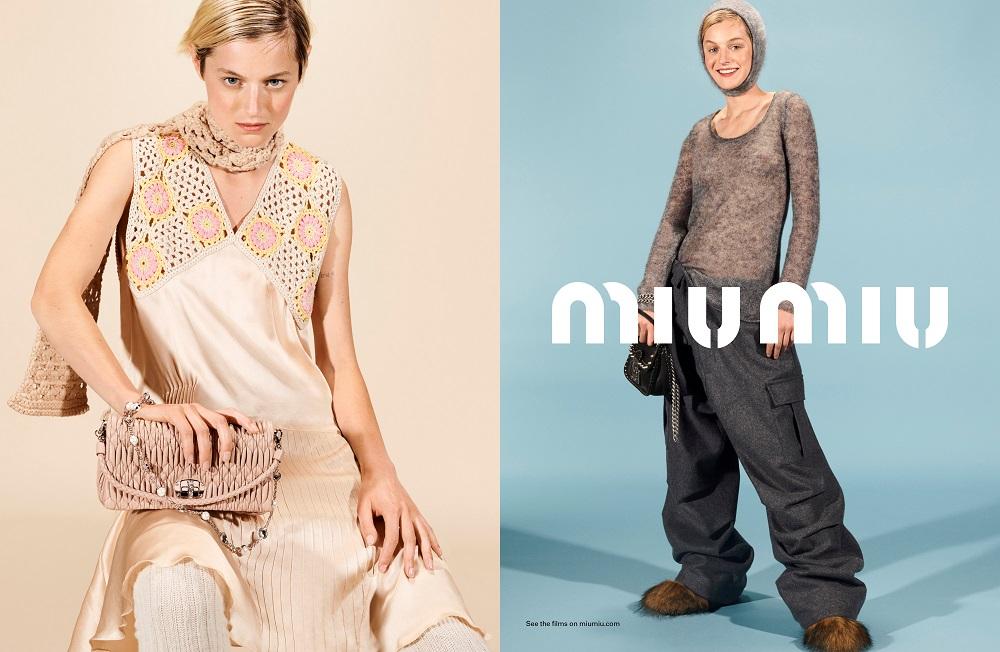 Храброе сердце: Рекламная кампания MIU MIU осень-зима 2021-Фото 1