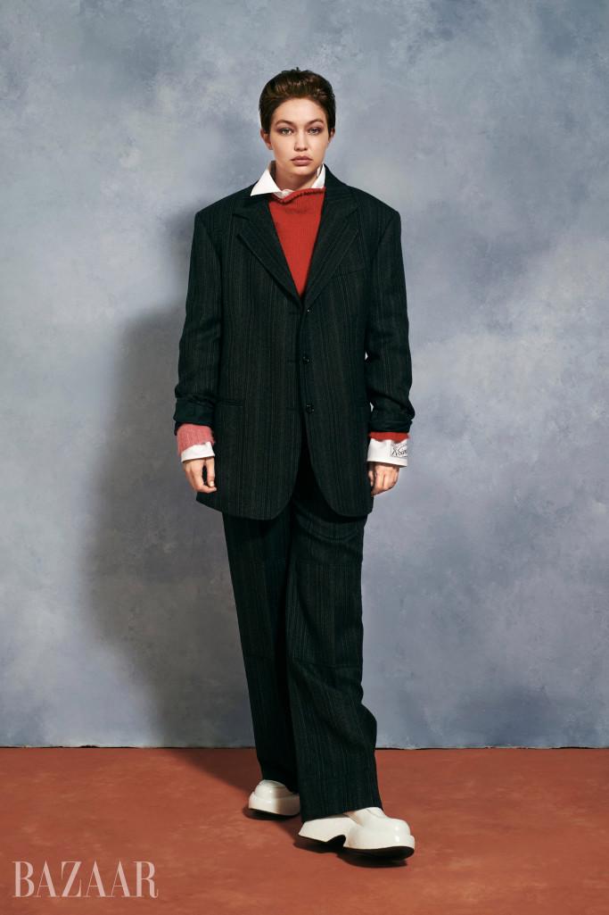 Джиджи Хадид появилась на обложке глянца в образе мужчины-Фото 3