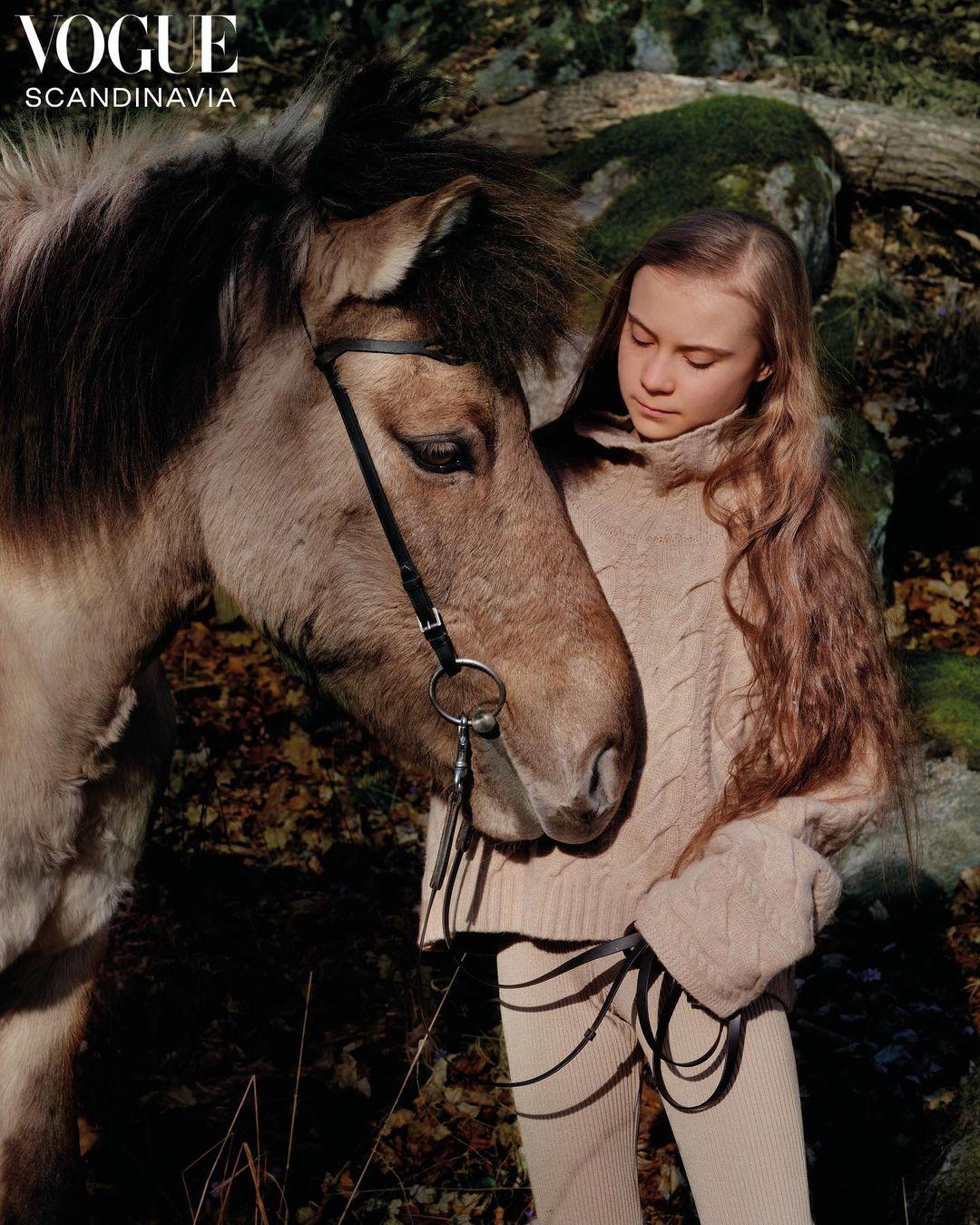 Экоактивиста Грета Тунберг стала лицом обложки первого выпуска Vogue Scandinavia-Фото 1