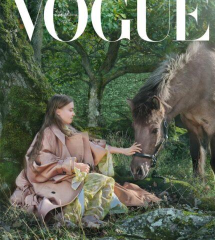 Экоактивиста Грета Тунберг стала лицом обложки первого выпуска Vogue Scandinavia-430x480