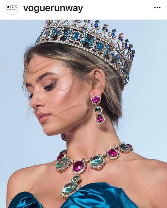 Кутюрный показ Dolce&Gabbana: На подиум вышли дочери Хайди Клум и Моники Белуччи-Фото 3