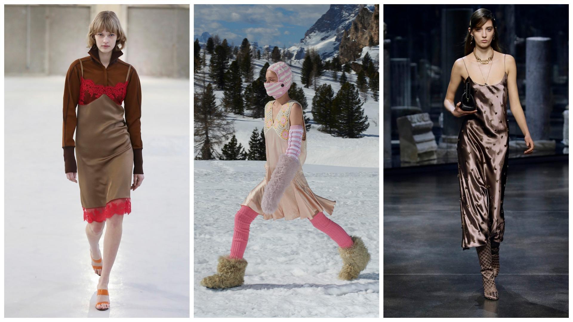Боец невидимого фронта: Платье-комбинация – актуальный тренд осени 2021-Фото 8