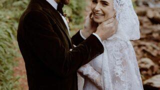 Платье современной принцессы — детали свадебного образа Лили Коллинз отRalphLauren-320x180