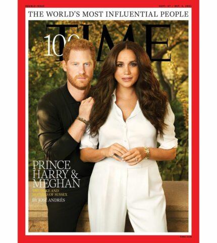 Что не так с обложкой: Принц Гарри и Меган Маркл стали лицом свежего выпуска Time-430x480