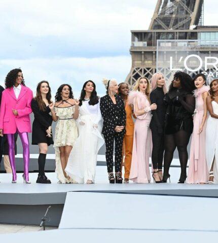 КамилаКабельо, ХеленМиррен, ЭмберХерди другие прошлись по подиуму в рамках модного шоуL'Oreal-430x480