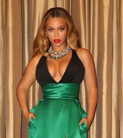 Образ дня: Бейонсе в винтажном платье-430x480