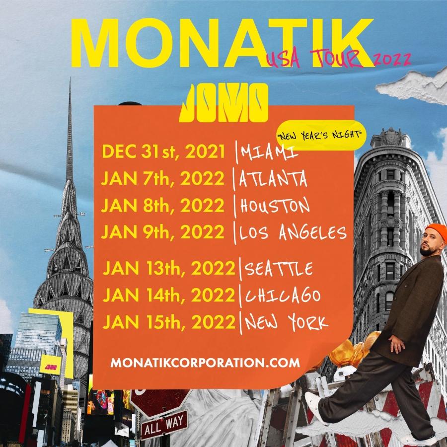 Новогодняя ночь в Майами и шоу в Нью-Йорке на Таймс-Сквер: MONATIK начнет 2022 год в масштабном туре по США-Фото 2
