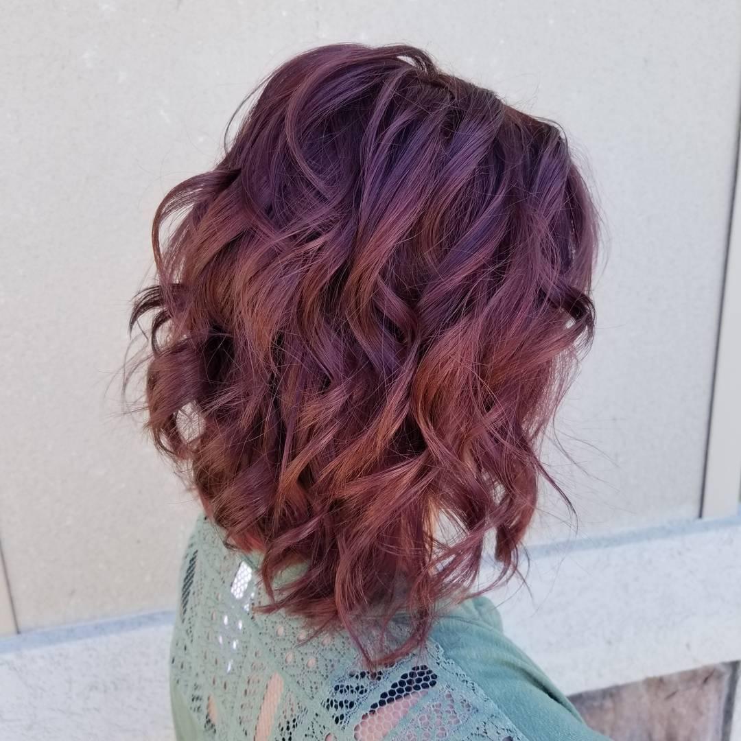 бургунди волосы